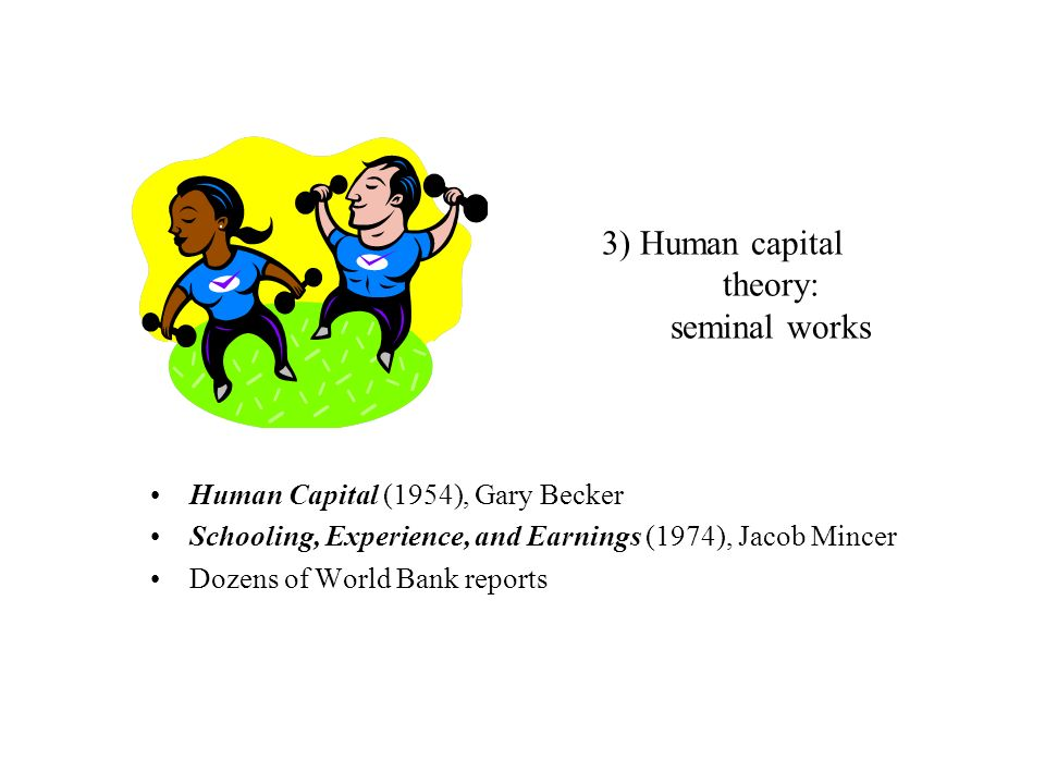 3) Human capital theory: seminal works