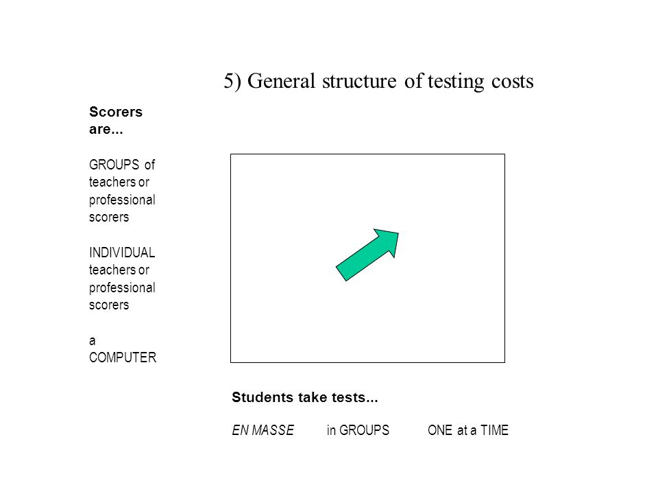 5) General structure of testing costs
