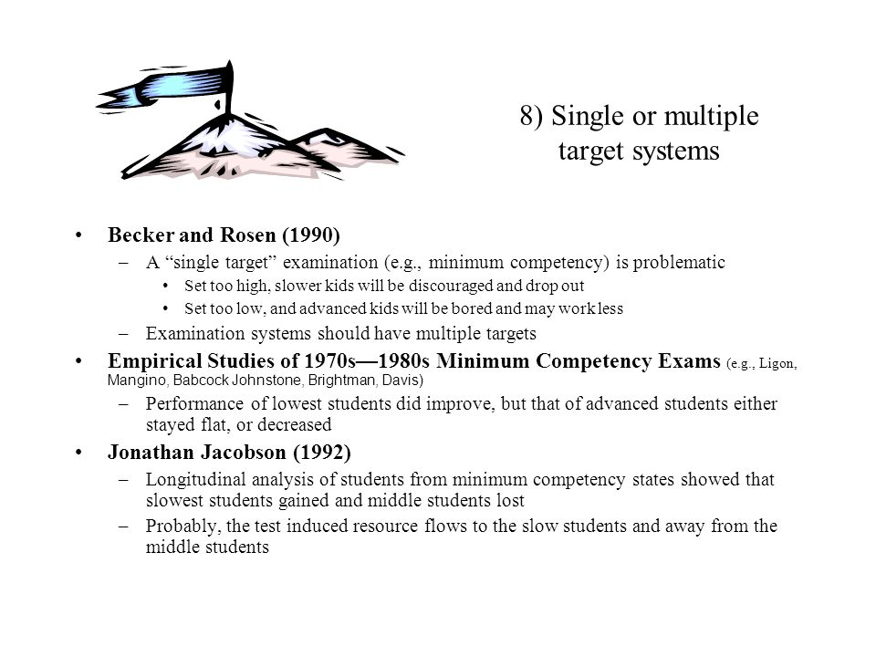 8) Single or multiple target systems