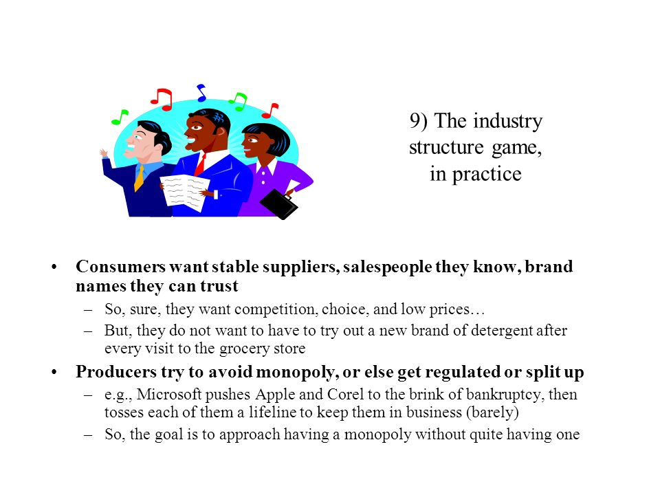 9) The industry structure game, in practice