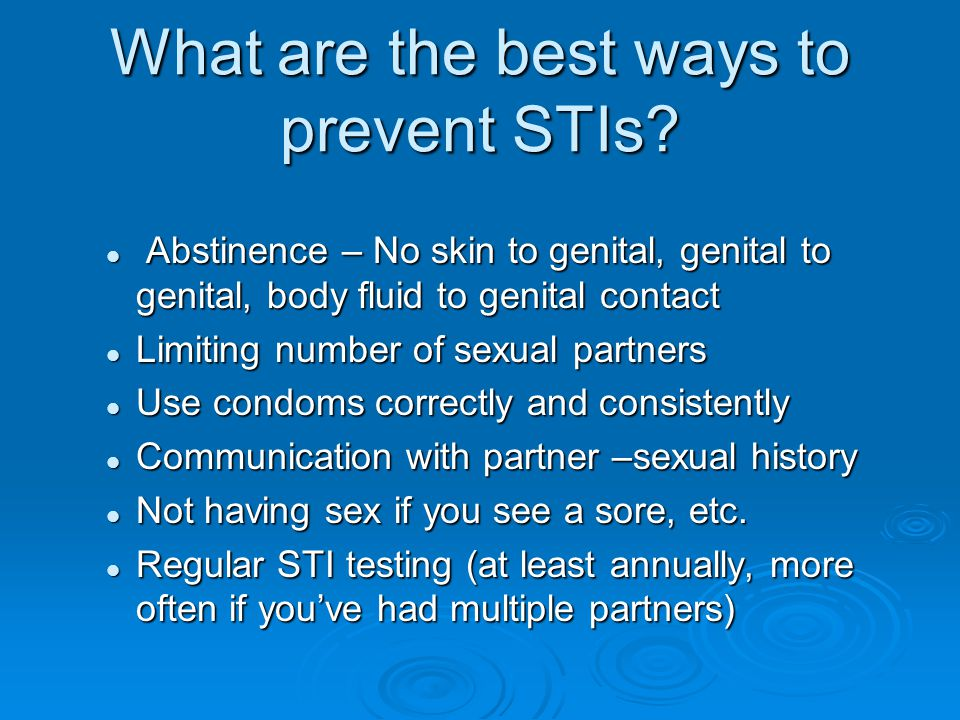 What are the best ways to prevent STIs
