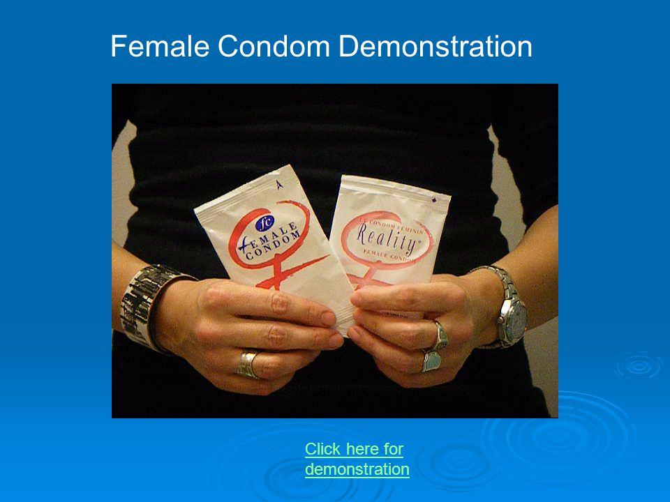 Female Condom Demonstration
