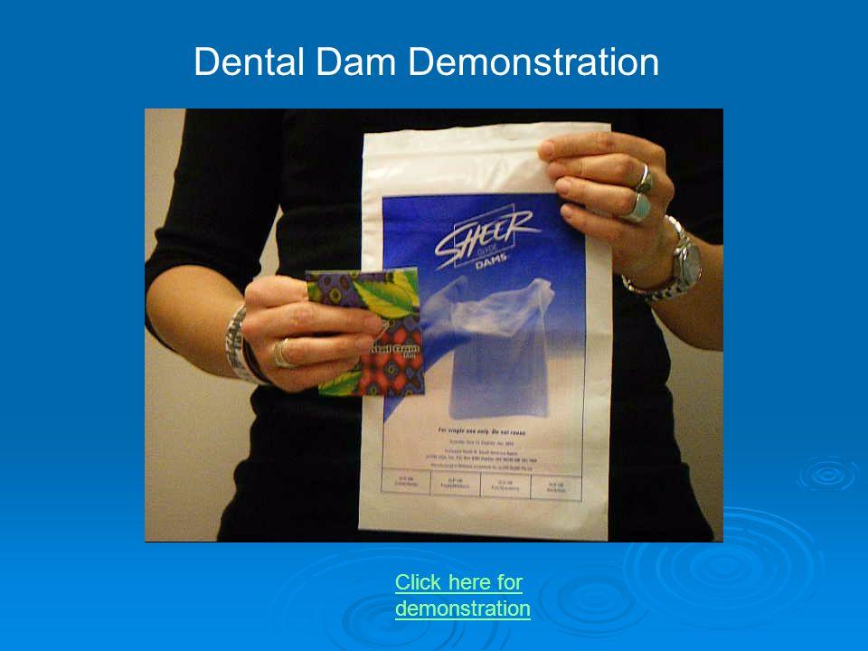 Dental Dam Demonstration