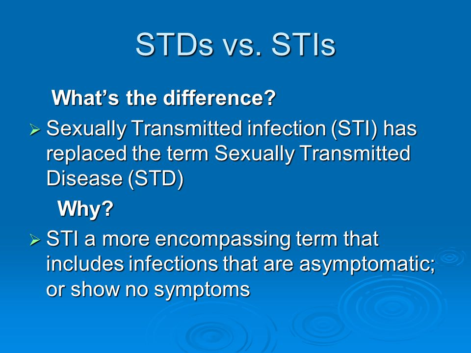 STDs vs. STIs What's the difference