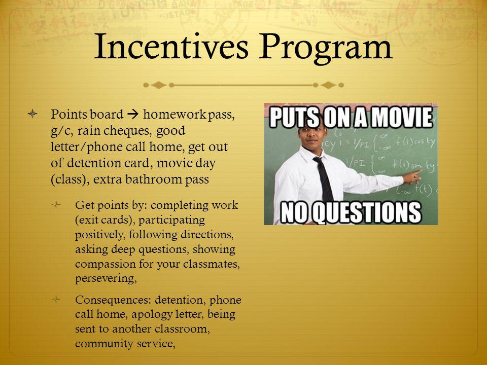 Incentives Program