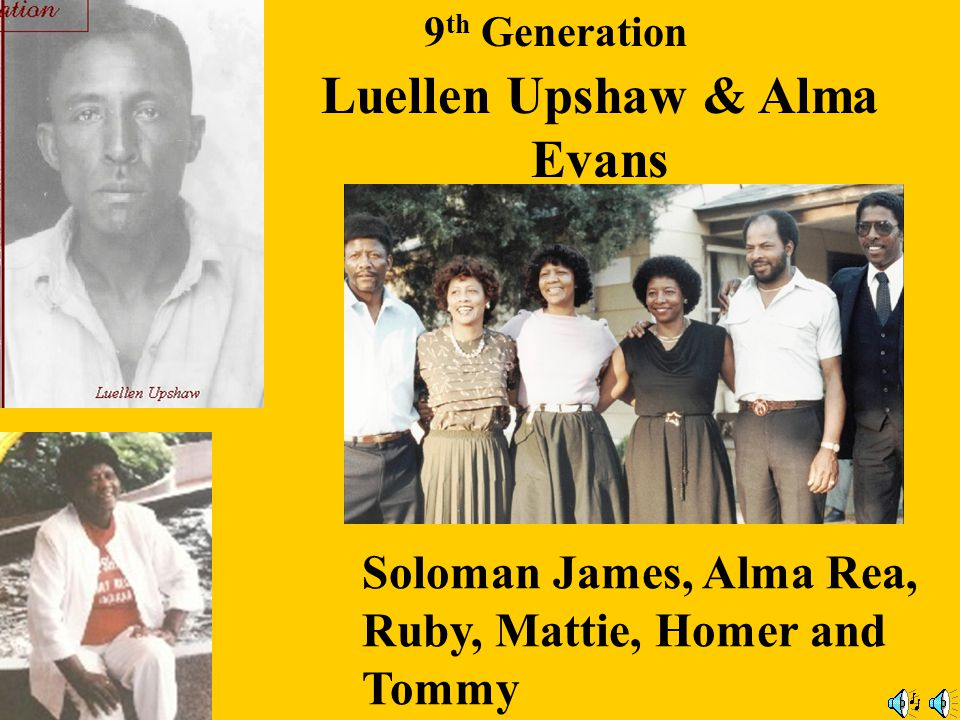 Luellen Upshaw & Alma Evans
