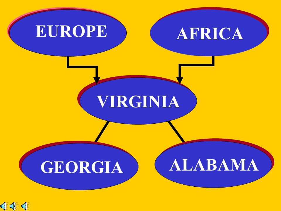 EUROPE AFRICA VIRGINIA ALABAMA GEORGIA