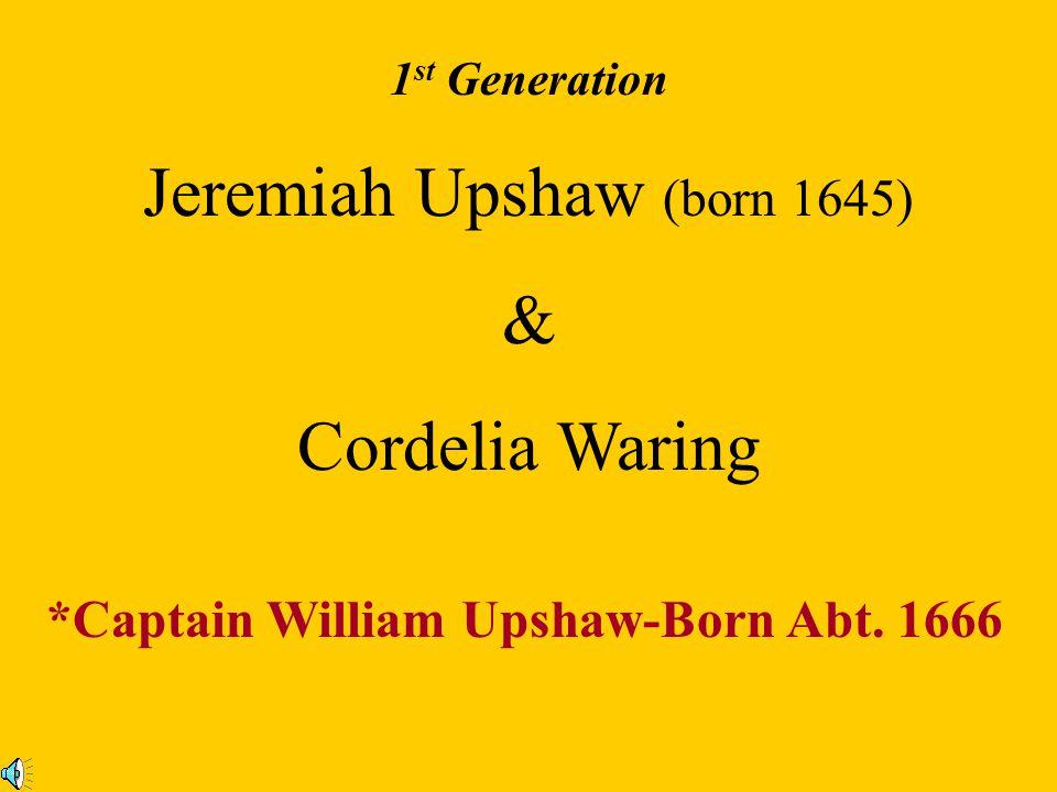Jeremiah Upshaw (born 1645)
