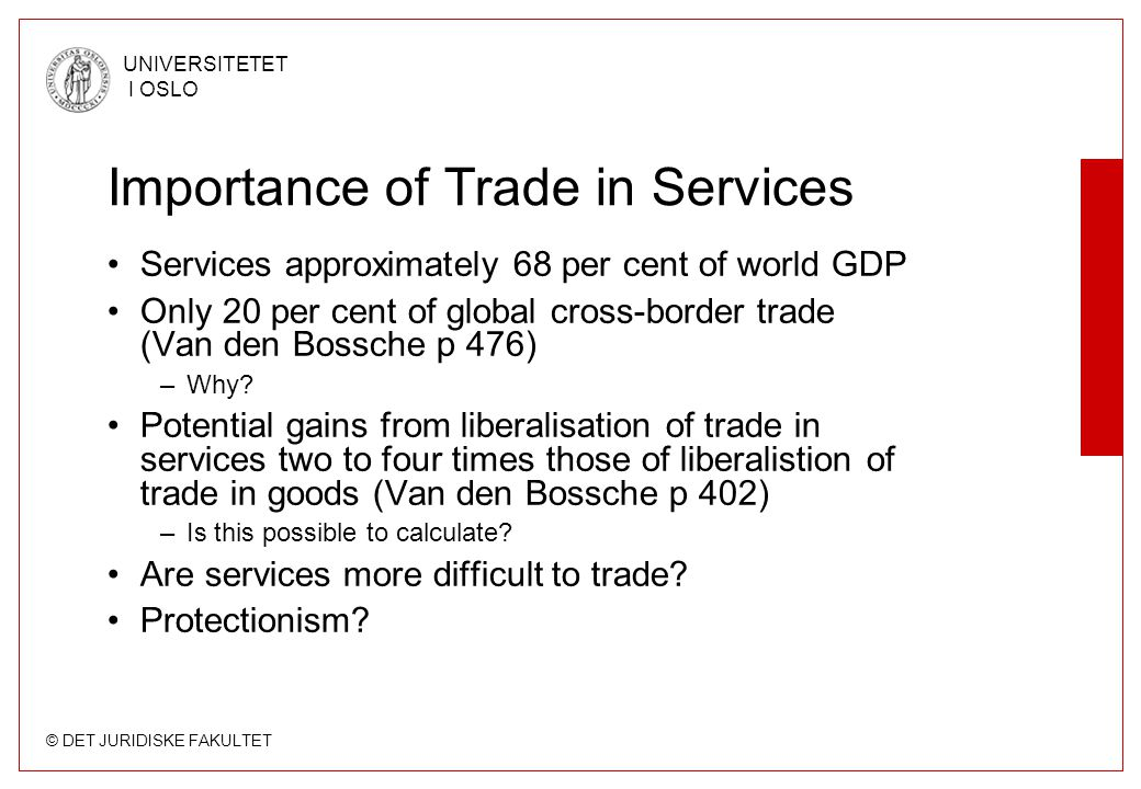 Importance of Trade in Services