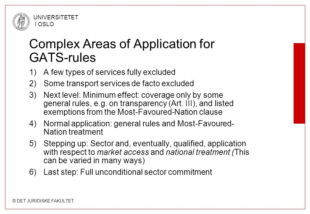 Complex Areas of Application for GATS-rules