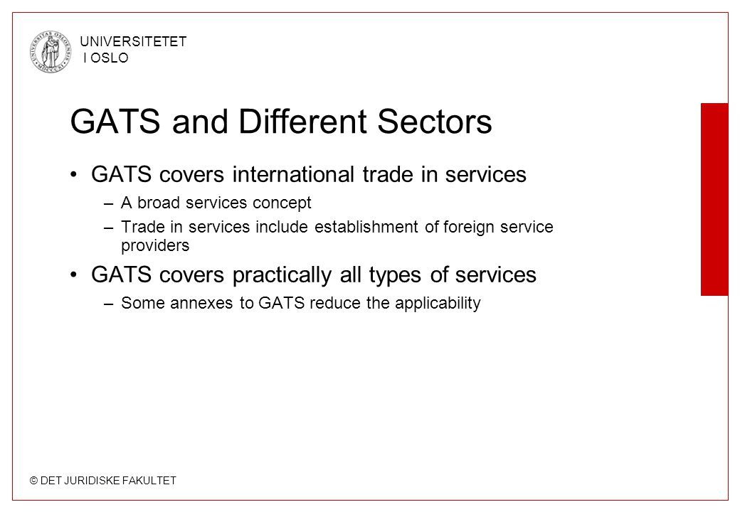 GATS and Different Sectors