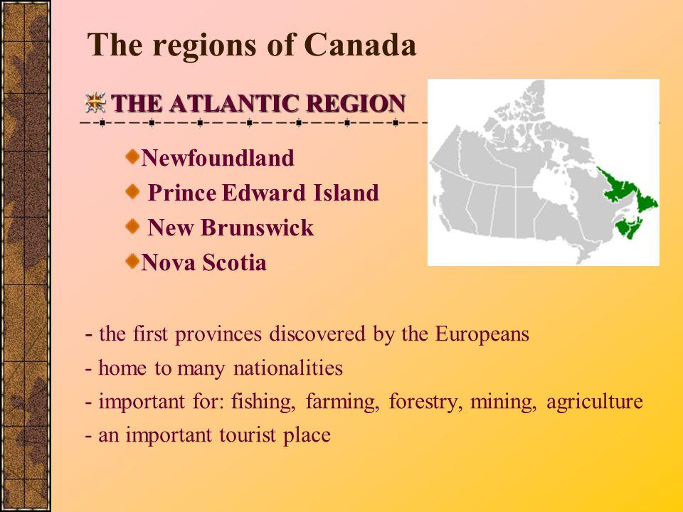 The regions of Canada THE ATLANTIC REGION Newfoundland