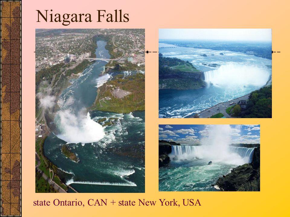 Niagara Falls state Ontario, CAN + state New York, USA