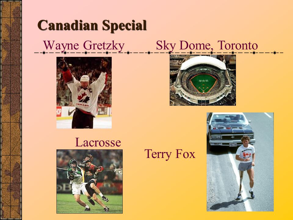 Canadian Special Wayne Gretzky Sky Dome, Toronto Lacrosse Terry Fox