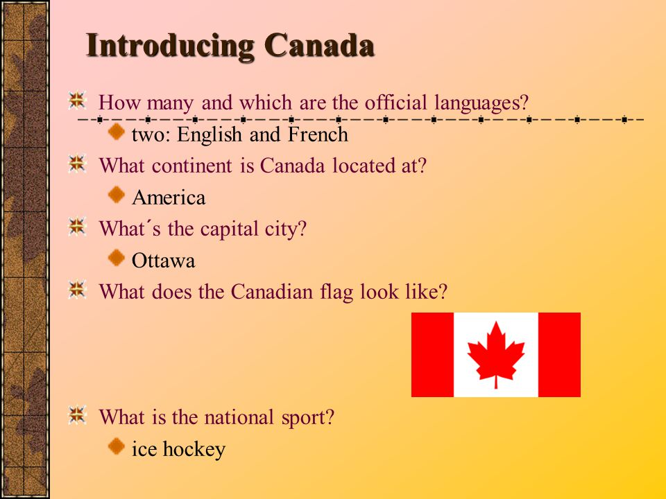 Introducing Canada How many and which are the official languages