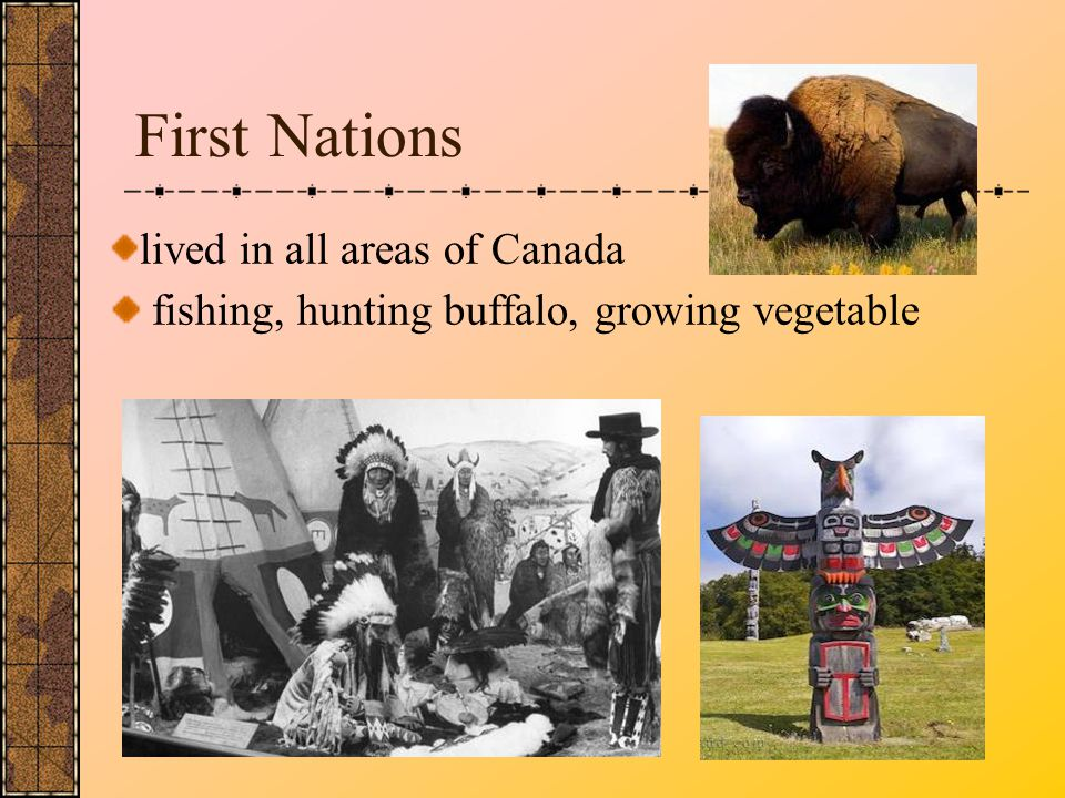 First Nations lived in all areas of Canada