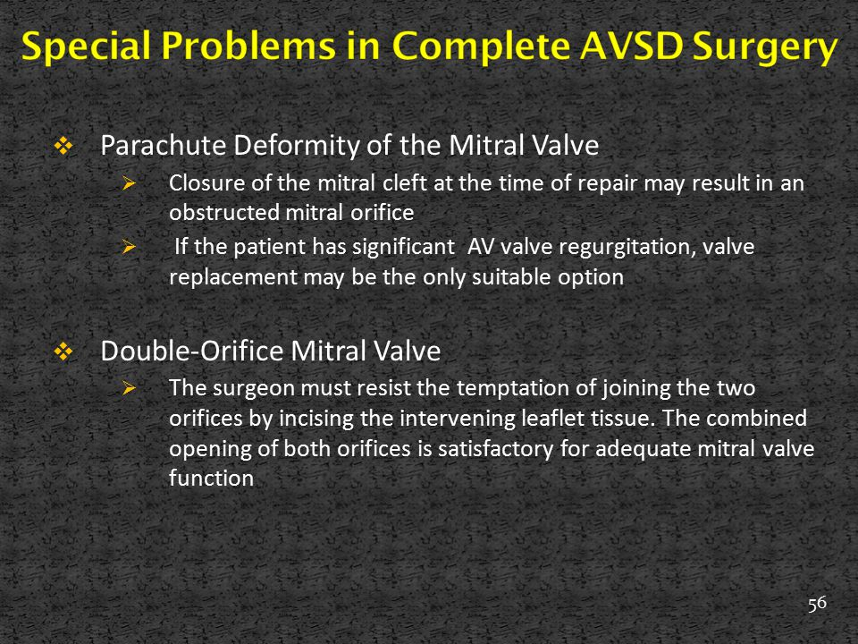 Special Problems in Complete AVSD Surgery