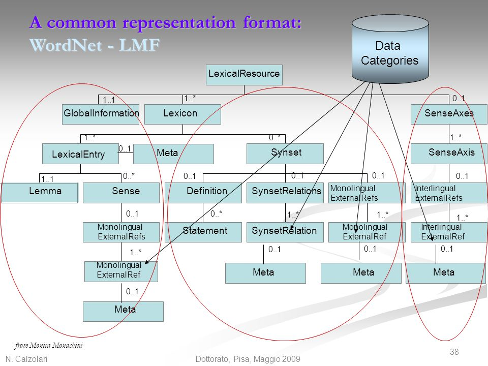 A common representation format: WordNet - LMF