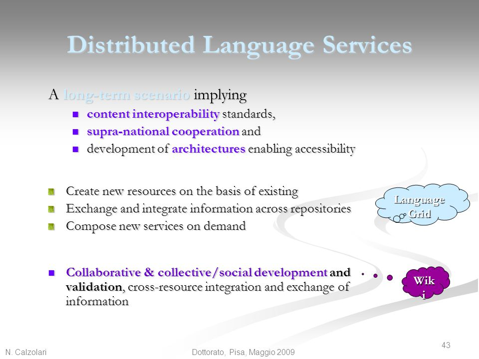Distributed Language Services
