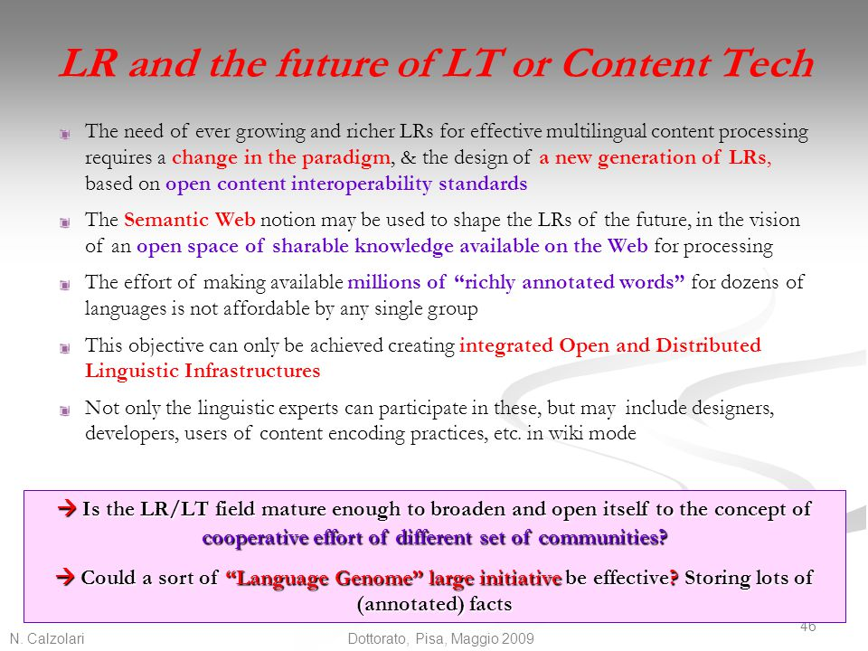 LR and the future of LT or Content Tech