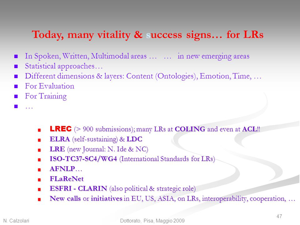 Today, many vitality & success signs… for LRs