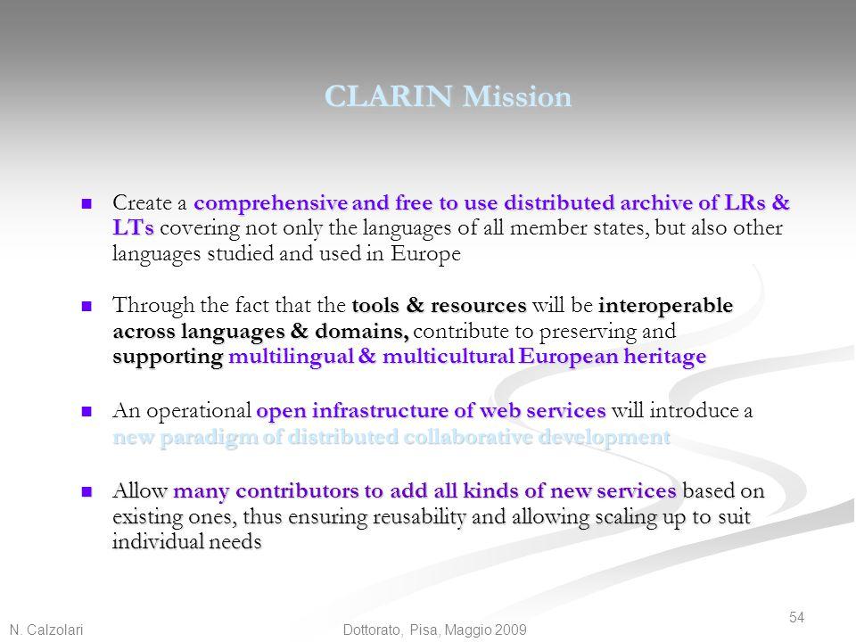 CLARIN Mission