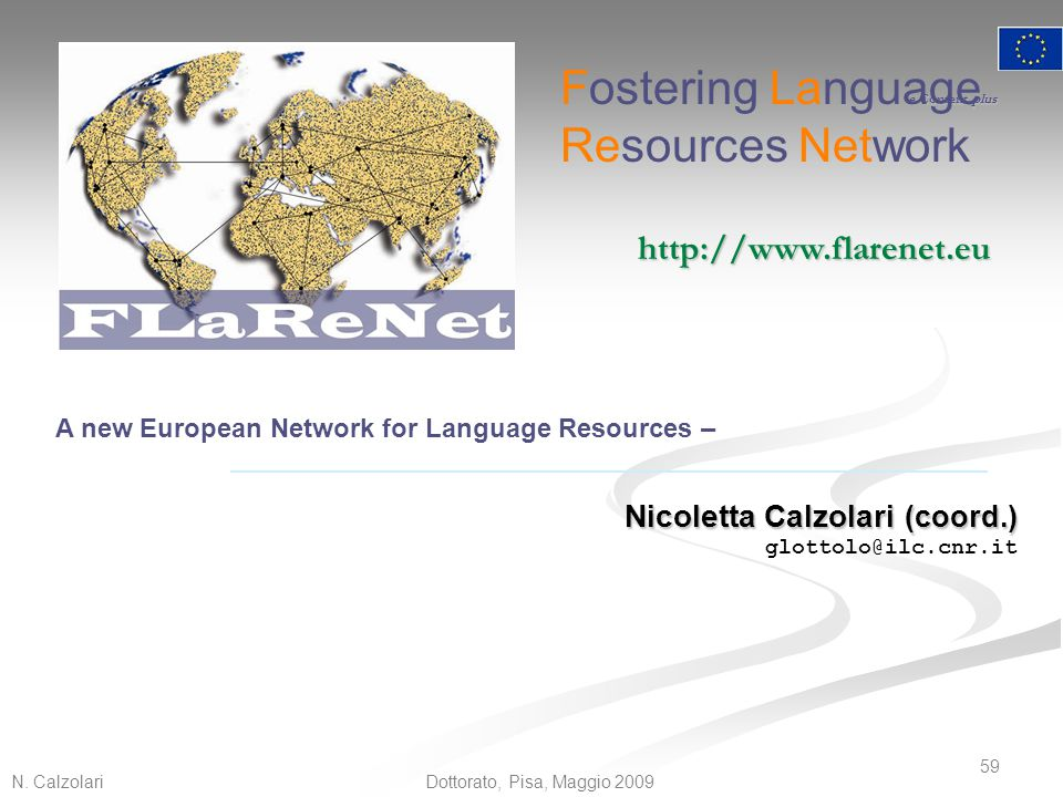 Fostering Language Resources Network