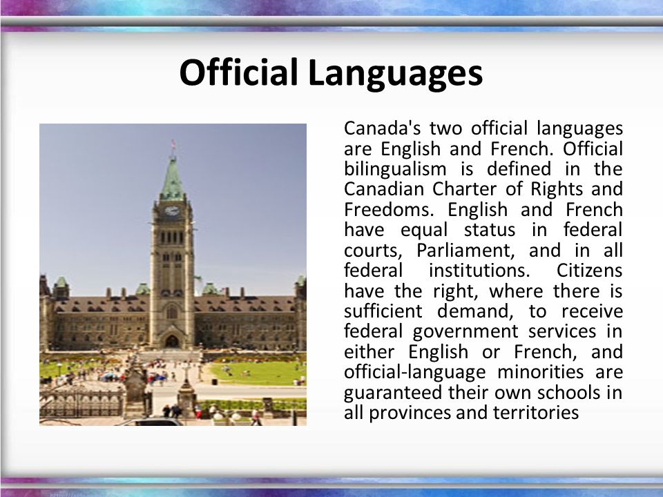 Official Languages