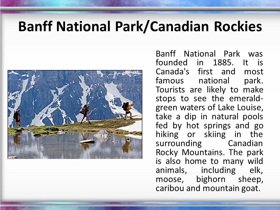 Banff National Park/Canadian Rockies