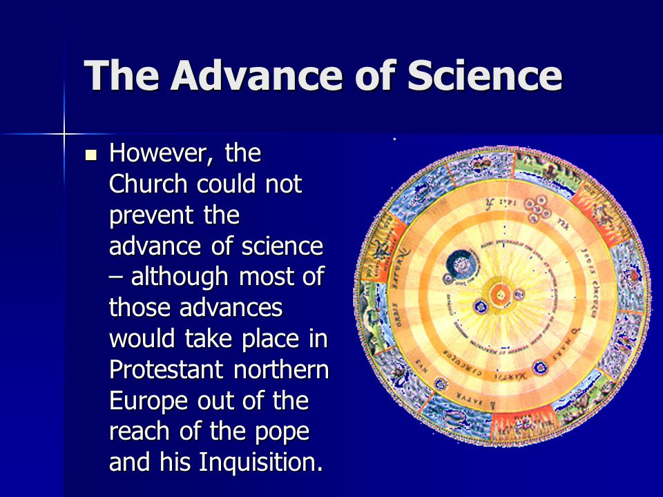 The Advance of Science