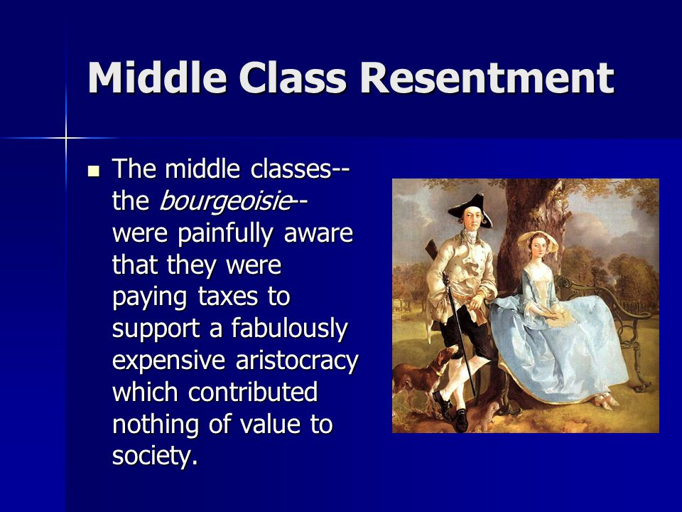 Middle Class Resentment