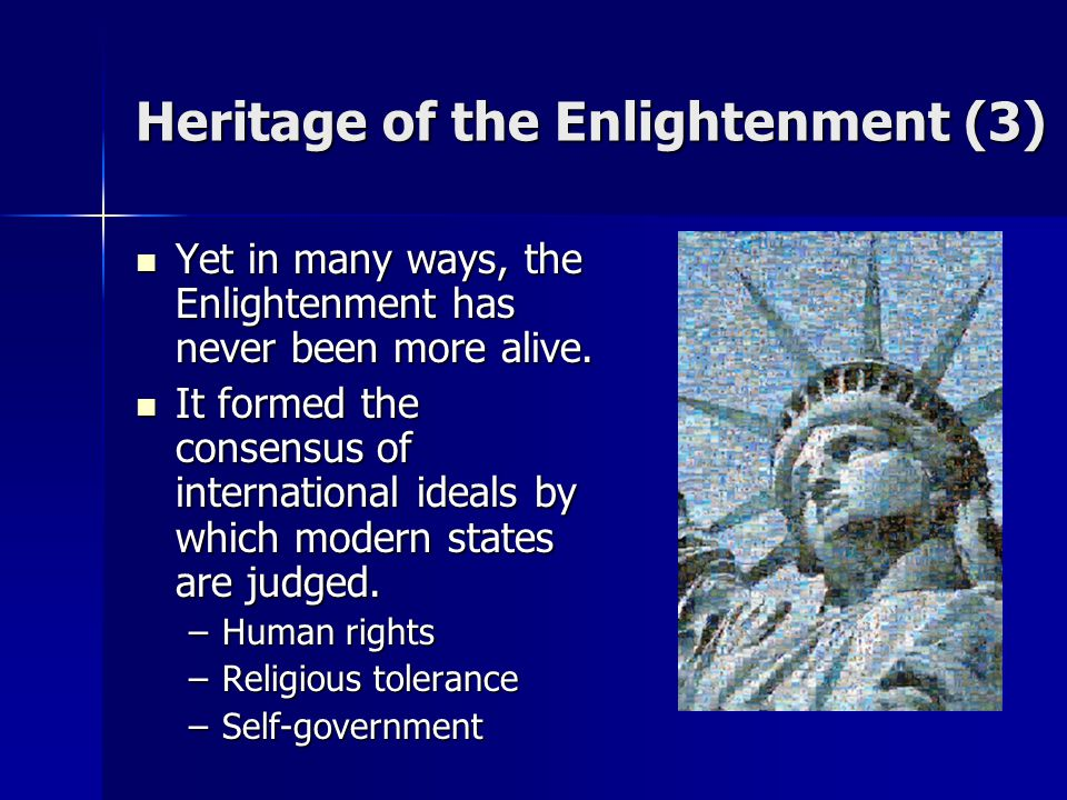 Heritage of the Enlightenment (3)