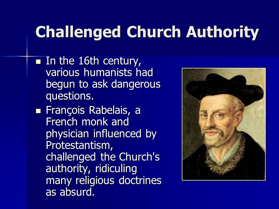 Challenged Church Authority