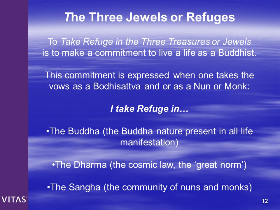 The Three Jewels or Refuges