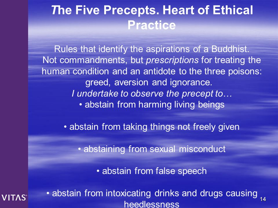 The Five Precepts. Heart of Ethical Practice