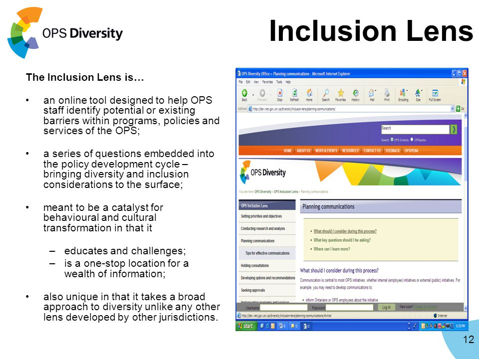 Inclusion Lens The Inclusion Lens is…