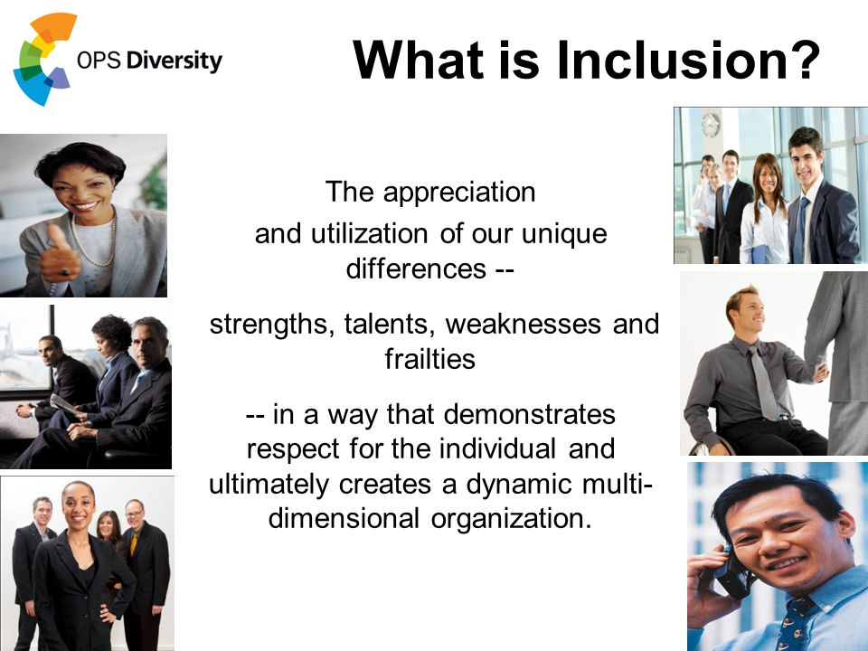 What is Inclusion The appreciation
