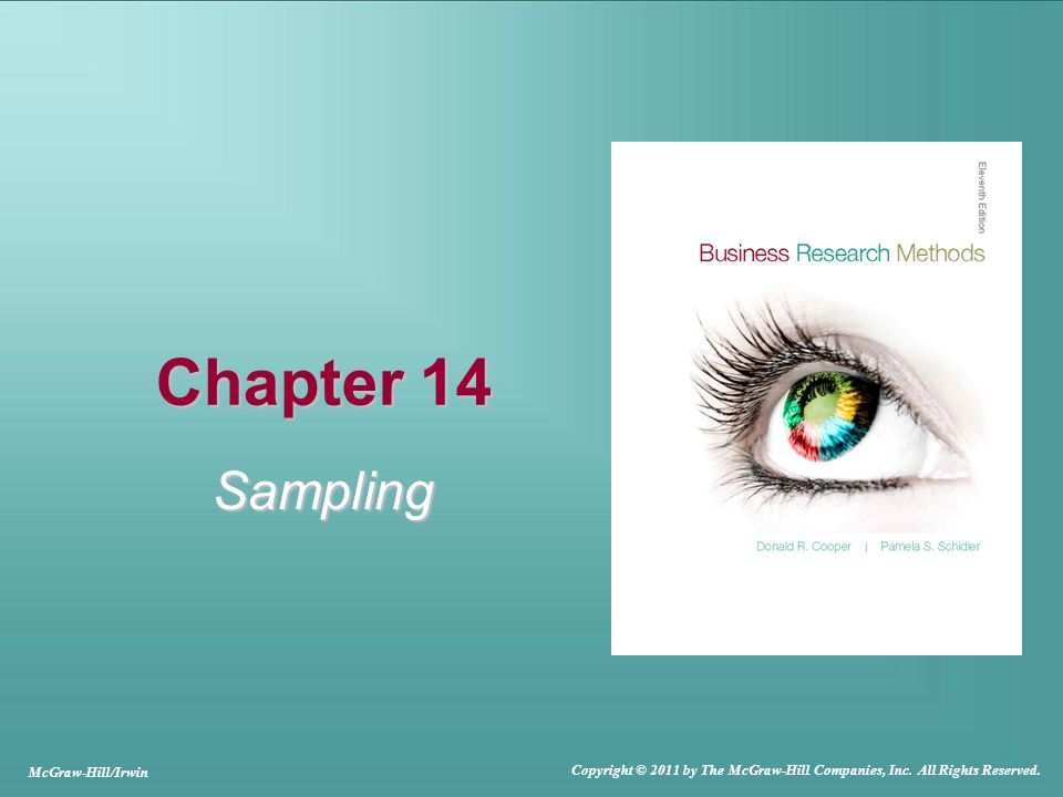 Chapter 14 Sampling McGraw-Hill/Irwin