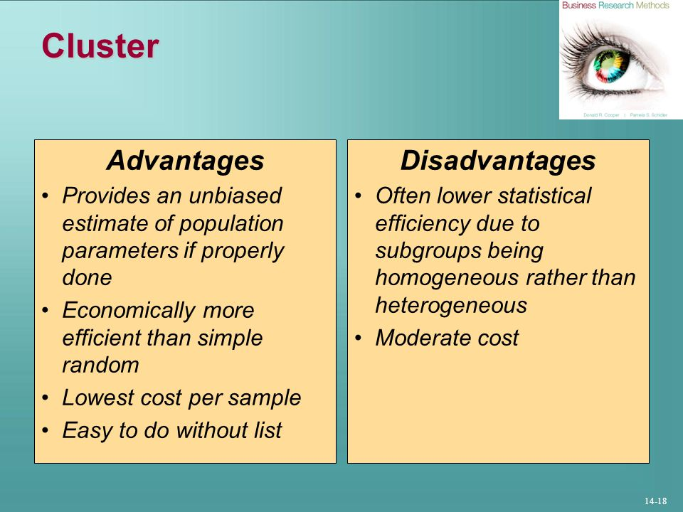 Cluster Advantages Disadvantages