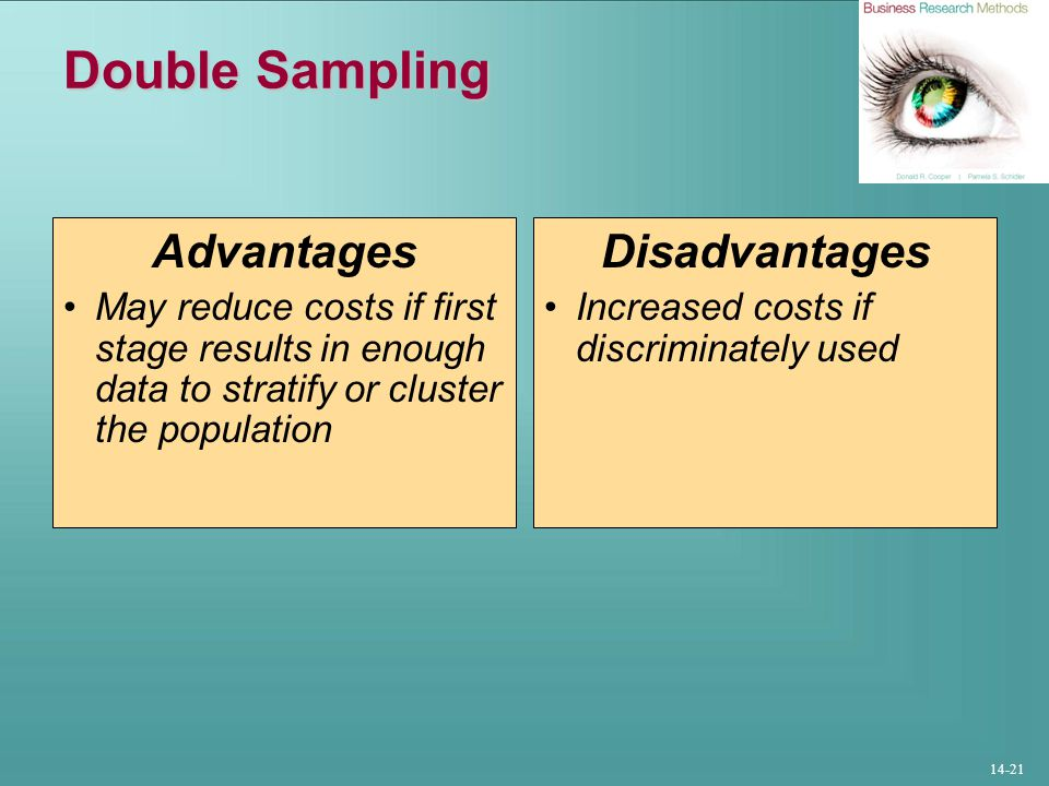 Double Sampling Advantages Disadvantages
