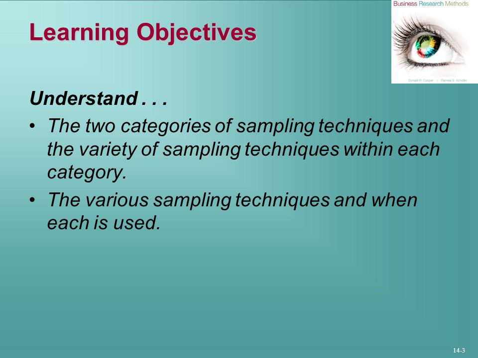 Learning Objectives Understand . . .