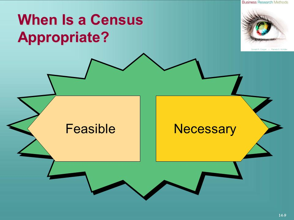 When Is a Census Appropriate