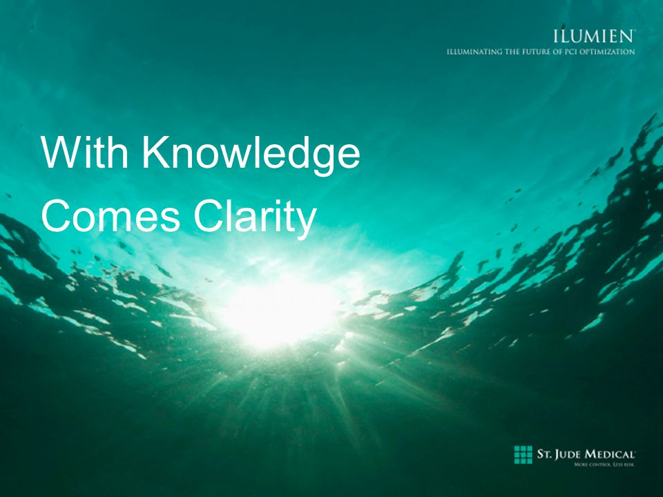 With Knowledge Comes Clarity
