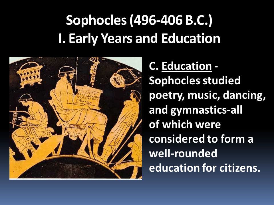 Sophocles (496-406 B.C.) I. Early Years and Education