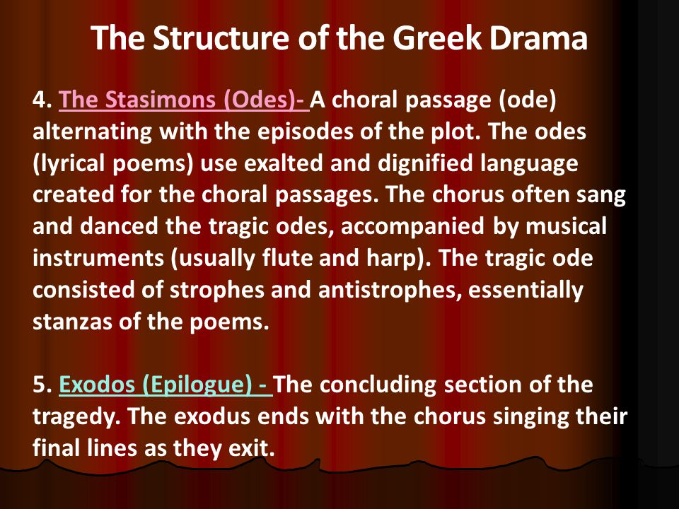 The Structure of the Greek Drama