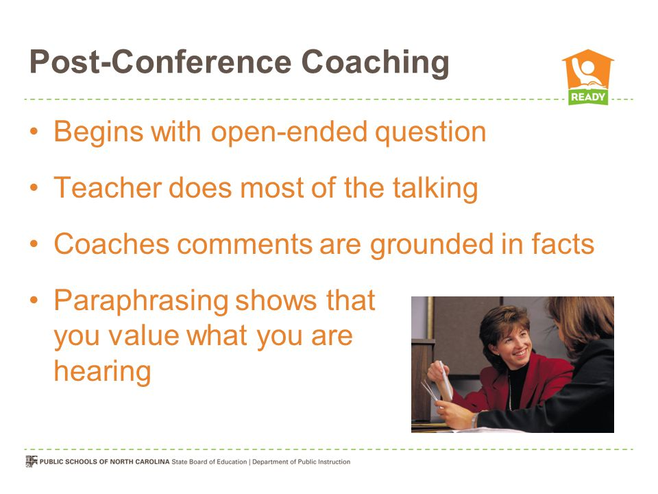 Post-Conference Coaching
