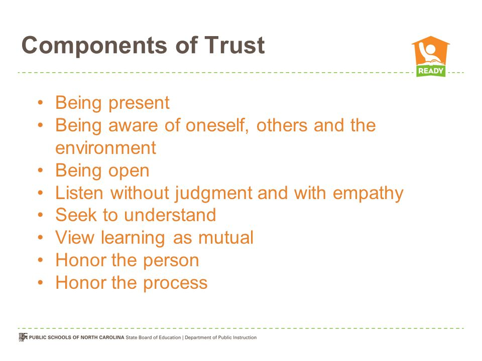 Components of Trust Being present