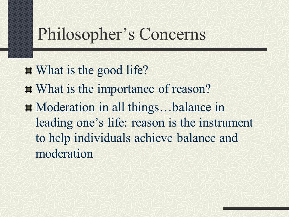 Philosopher's Concerns