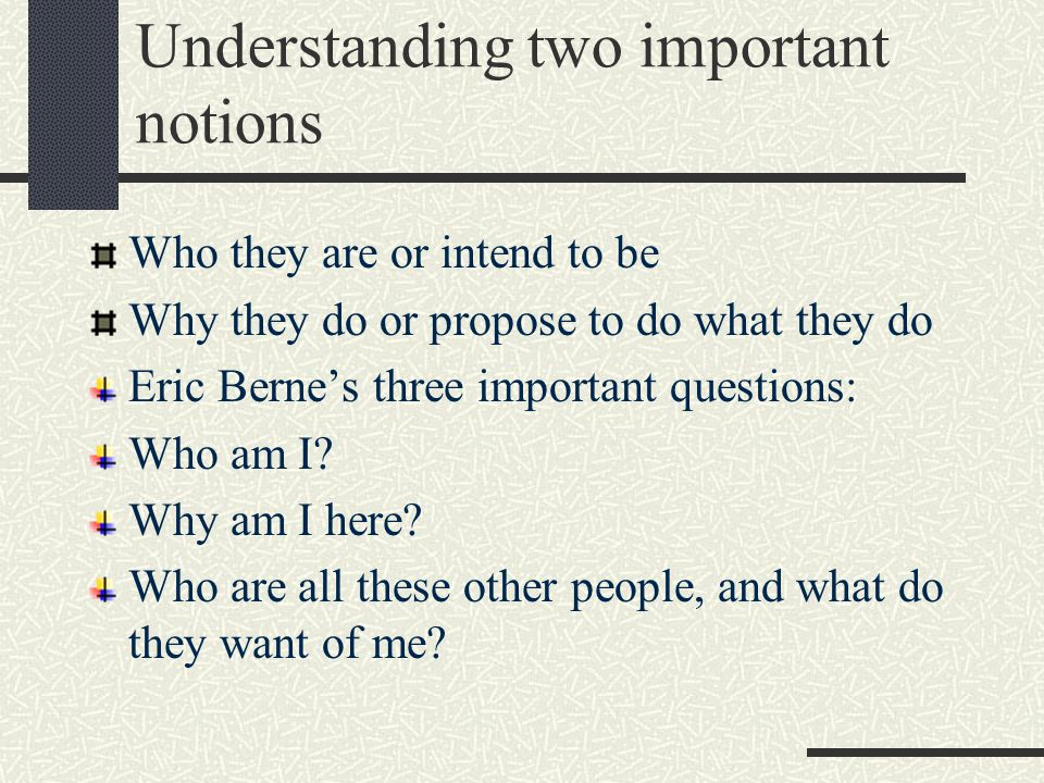 Understanding two important notions
