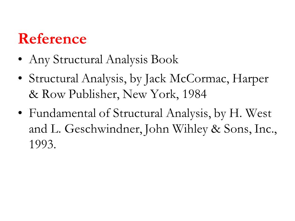 Reference Any Structural Analysis Book